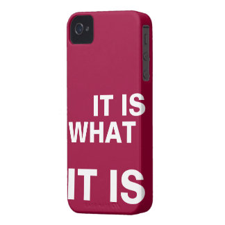It is What it is iPhone 4 Cases