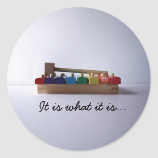 , It is what it is... Classic Round Sticker
