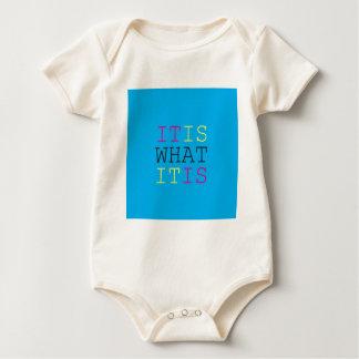 It Is What It Is - CMYK Baby Bodysuit