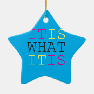 It Is What It Is - CMYK Christmas Tree Ornament