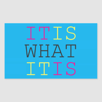 It Is What It Is - CMYK Rectangular Sticker