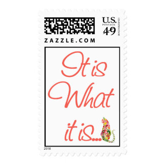 IT IS WHAT IT IS Feline Cats Postage Stamp