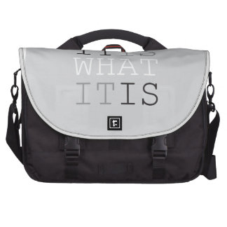 It Is What It Is - Gray Laptop Computer Bag