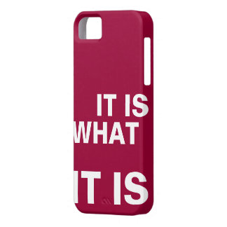 It is What it is iPhone 5 Covers