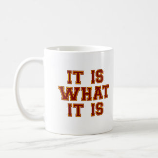 It Is What It Is Red And Gold Mug
