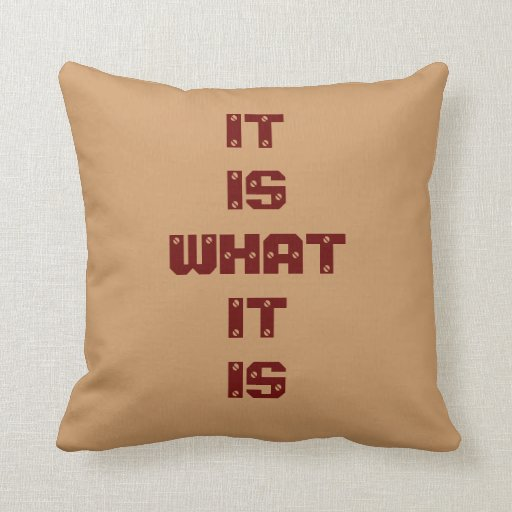 It Is What It Is Screwed Throw Pillow Zazzle