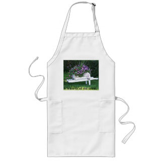 It is worth all the work! long apron