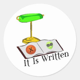 It Is Written Classic Round Sticker