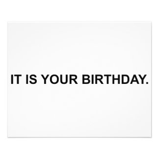 It Is Your Birthday Flyer