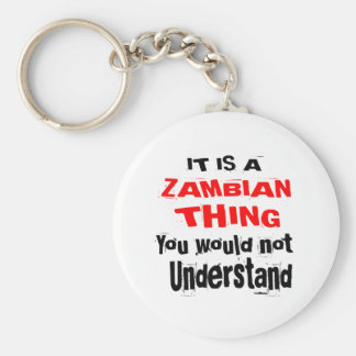 IT IS ZAMBIAN THING DESIGNS KEYCHAIN