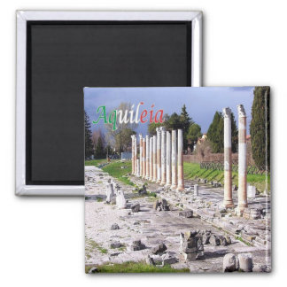 IT - Italy - Aquileia - Roman Ruins 2 Inch Square Magnet