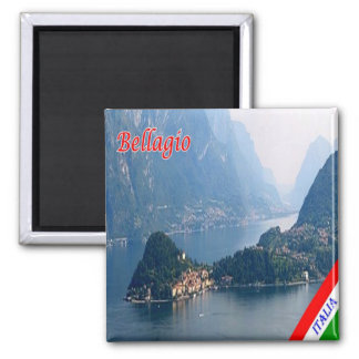 IT - Italy - Bellagio - Promontory 2 Inch Square Magnet