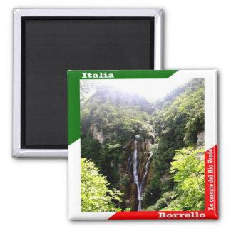IT - Italy - Borrello - Waterfalls of Rio Verde Magnet
