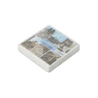 IT Italy - Campania - Pompei - Basilika - Stone Magnet