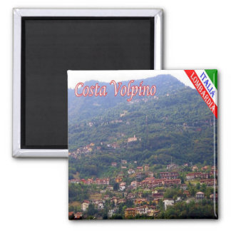 IT - Italy -  Costa Volpino 2 Inch Square Magnet