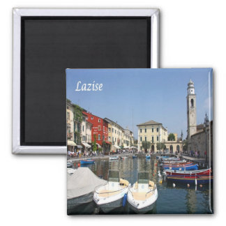 IT - Italy - Desenzano - Lighthouse 2 Inch Square Magnet