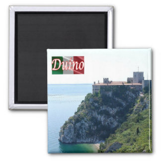 IT - Italy - Duino - Castle 2 Inch Square Magnet