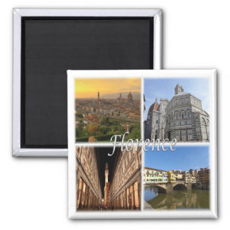IT * Italy - Florence Italy 2 Inch Square Magnet