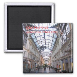 IT - Italy - Genoa - Galleria Mazzini 2 Inch Square Magnet