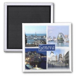 IT * Italy - Genova Genoa 2 Inch Square Magnet