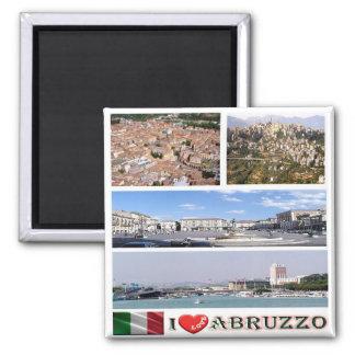IT - Italy - I Love Abruzzo Magnet