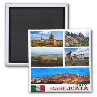 IT - Italy - I Love - Collage Mosaic 2 Inch Square Magnet
