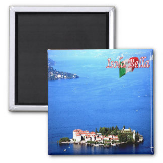 IT - Italy - Island - Bella - Panorama 2 Inch Square Magnet
