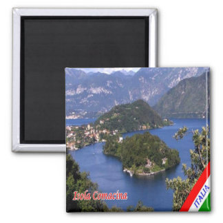 IT - Italy - Island Comacina 2 Inch Square Magnet