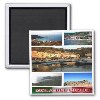 IT - Italy - Isola del Giglio - Mosaic - Collage Magnet