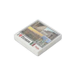 IT  Italy - Italia - Firenze  - I Love Mosaic - Stone Magnet