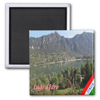 IT - Italy - Lake Idro - Panorama 2 Inch Square Magnet