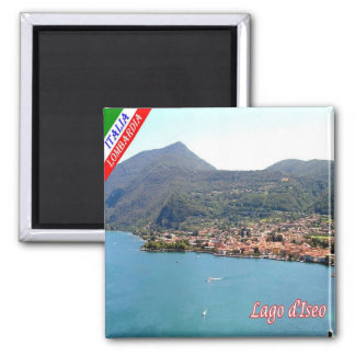 IT - Italy - Lake Iseo - View 2 Inch Square Magnet