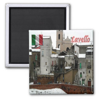 IT - Italy - Lavello - Old Town 2 Inch Square Magnet
