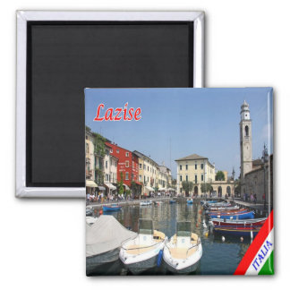 IT - Italy - Lazise - Port 2 Inch Square Magnet