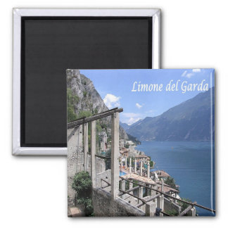 IT - Italy - Limone del Garda - Panorama 2 Inch Square Magnet