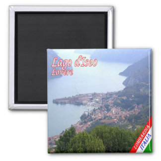 IT - Italy - Lovere 2 Inch Square Magnet