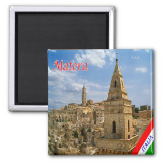 IT - Italy - Matera 2 Inch Square Magnet