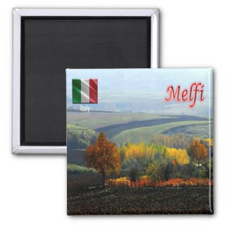 IT - Italy - Melfi - Fields 2 Inch Square Magnet