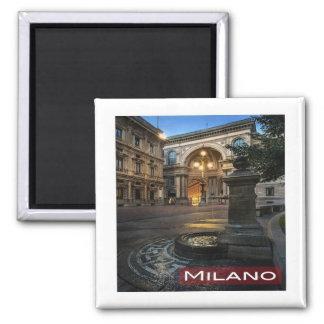 IT * Italy Milan Milano Galleria Vittorio Emanuele 2 Inch Square Magnet