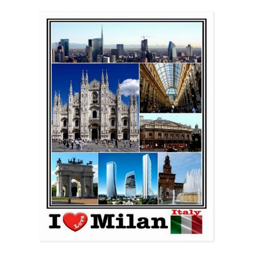 IT Italy _ Milan _ Postcard