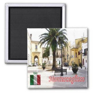 IT - Italy - Montescaglioso - Piazza del Popolo 2 Inch Square Magnet