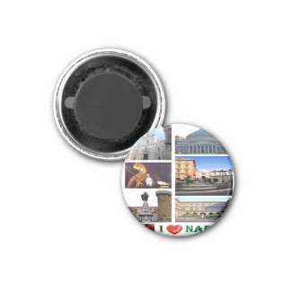 IT - Italy - Naples - I Love - Collage Mosaic Magnet