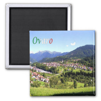 IT - Italy - Ovaro - Panorama 2 Inch Square Magnet