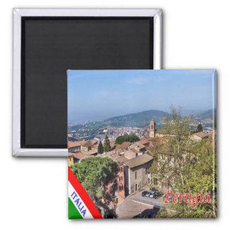 IT - Italy - Perugia 2 Inch Square Magnet