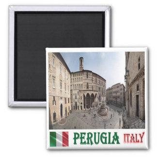 IT - Italy - Perugia - Cityscape 2 Inch Square Magnet