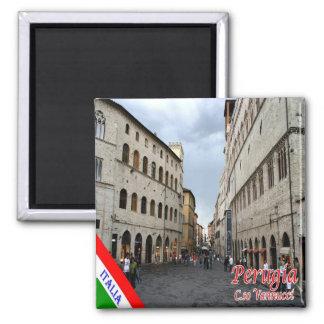 IT - Italy - Perugia - Corso Vannucci 2 Inch Square Magnet