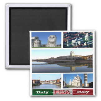 IT - Italy - Pisa - Collage Mosaic Magnet