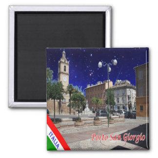 IT - Italy - Porto San Giorgio 2 Inch Square Magnet