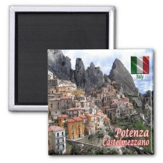 IT - Italy - Potenza - Castelmezzano Panorama 2 Inch Square Magnet