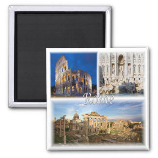 IT * Italy - Rome Italy 2 Inch Square Magnet